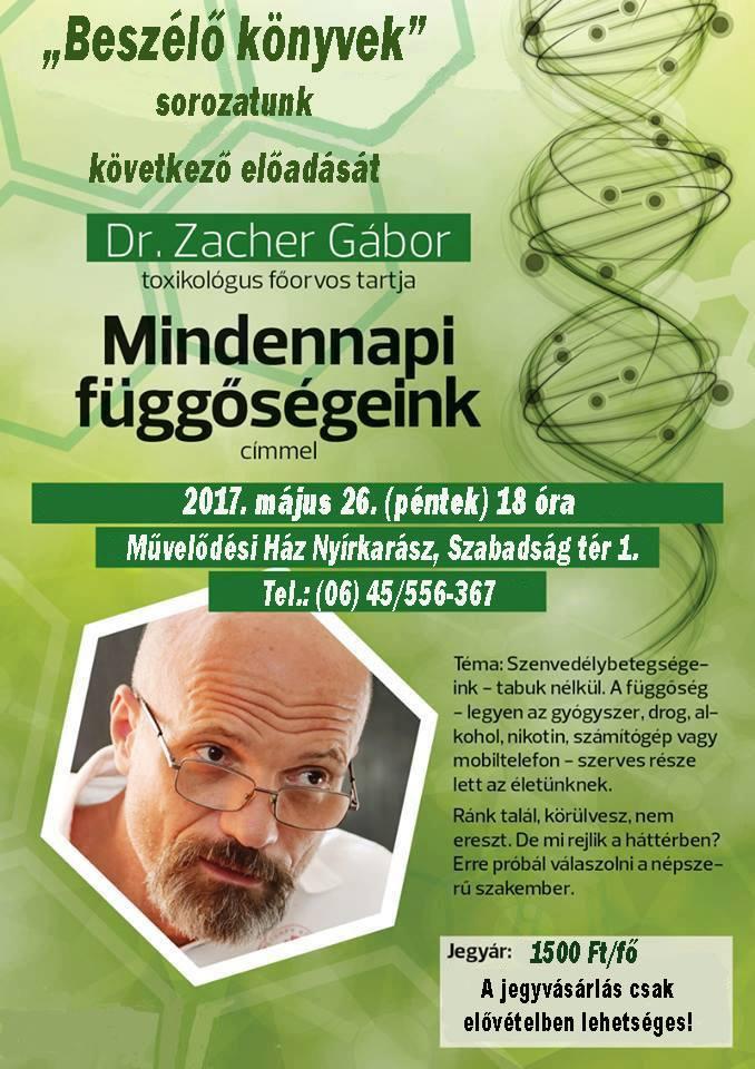Zacher Gábor plakát
