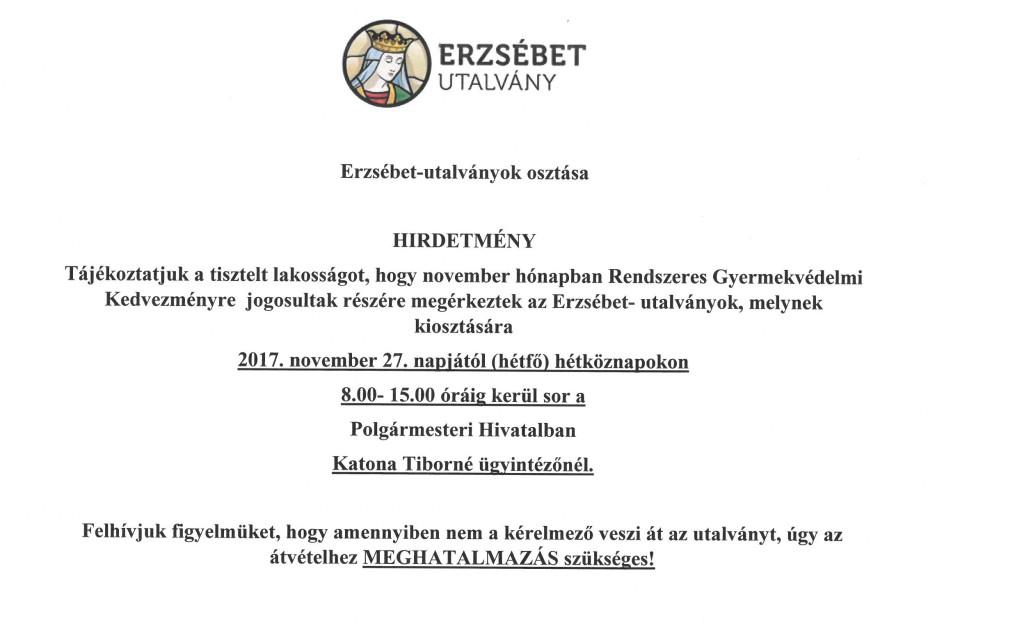 UTF-8''Erzsébet utalvány